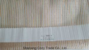 New Popular Project Stripe Organza Sheer Curtain Fabric 00826 pictures & photos