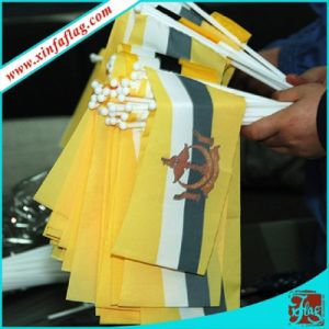 Eco-Friendly Printed Polyester Hand Flag with Plastic Pole pictures & photos