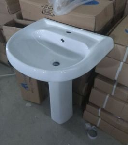 Africa Market Twyford Ceramic Pedestal Wash Basin with Soncap Certificate pictures & photos