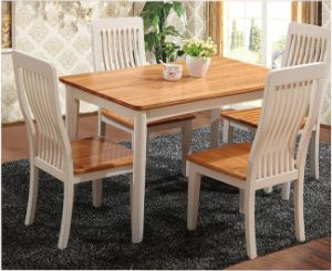 Solidwood Simple Natural Color Dining Furniture Table and Chairs Set pictures & photos