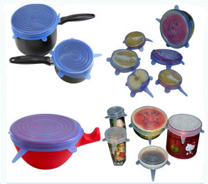 Fresh Keeping Silicone Stretch Cover, Silicone Food Lid pictures & photos