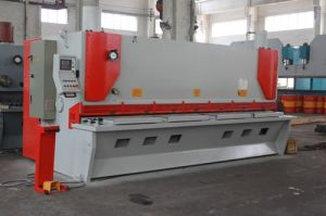 CNC guillotine shearing machine,hydraulic swing beam shear pictures & photos