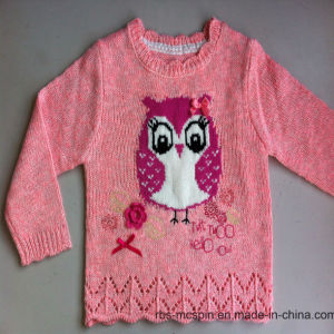 Grey Marl Penguin Intarsia Sweater - Ture Knitted Kids Sweater pictures & photos