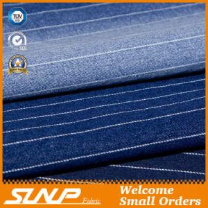 2016 Vertical Striped Stretch Cotton/Polyester Denim Fabric