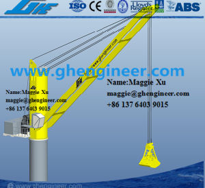 40t Four Ropes Mechanical Hydraulic Grab Barge Deck Crane pictures & photos