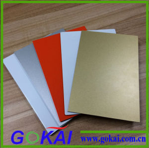 Golden 3mm Low Cheap PVDF Decorative Aluminum Composite Panel for Exterior Walls ACP pictures & photos
