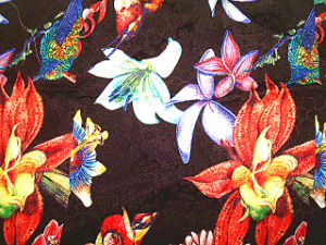 Digital Print Su Crepe Satin Plain Silk Fabric pictures & photos