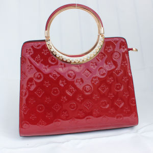 Lady Fashion Handbag with Patent Leather (E23189)