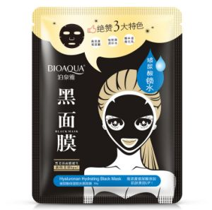 Bioaqua Hyaluronan Hydrating, Whitening Facial Black Mask Hyaluronic Acid pictures & photos