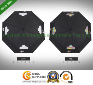 Magic Automatic Folding Umbrella with Custom Changeable Printing Logo in Rain (FU-3821BFC) pictures & photos