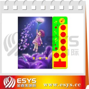 Kid Cartoon Book with Voice Plastic Panel