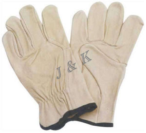 Driver Gloves Cow Grain Driver Gloves Leather Golves Working Gloves pictures & photos