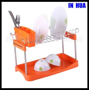 Double Deck Chrome Plated Dish Plate Rack