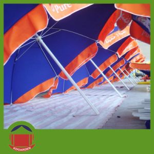 Two Color Printing Beach Umbrella pictures & photos