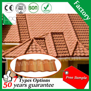 Aluminum Steel Stone Tile Roofing Material Stone Coated Metal Roof Tile Sheet pictures & photos