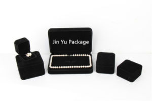 Delicate Black Velvet Gift Jewelry Packaging Boxes with Custom Logo pictures & photos