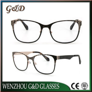 Latest Design Metal Spectacle Frame Eyewear Eyeglass Optical Frame 46-063 pictures & photos