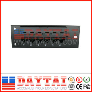 High Quality 6 Port Cat 5e Patch Panel pictures & photos