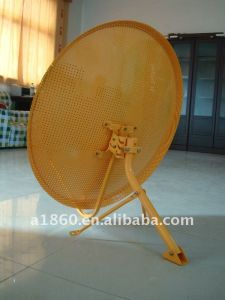 Ku Band 80cm Mesh Dish Antenna with Wall Mount Base