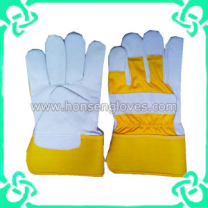 Industrial Safety Hand Work Gloves in Cow Leather (GS-801D)