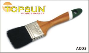 Maple Wooden Handle Paint Brush Two-Colored Tail Varnished Paint Brush
