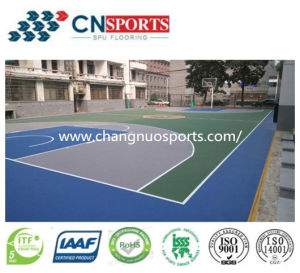 Polyurethane Sports Flooring for Basketball, Volleyball, Futsal Court pictures & photos