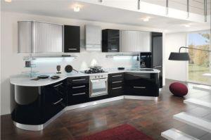2016 New Design Modern Mueble De Cocina High Gloss Black Lacquer Kitchen Professional OEM Manufacturer L1606033 pictures & photos