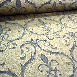 Printed Leather Imitation Suede Fabric for Home Decoration pictures & photos