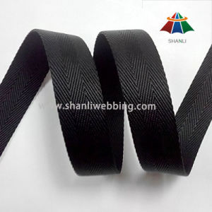 25mm Black 3 Twill Twisted Nylon Webbing From China Factory pictures & photos