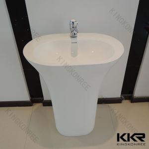 Unique Resin Stone Sanitaryware Basin Pedestal (B1708092) pictures & photos