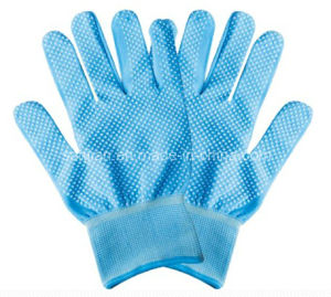 PVC Dotted Glove, China Manufacture pictures & photos