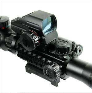 4-12X50 Eg Tactical Rifle Scope with Holographic 4 Reticle Sight & Red Laser pictures & photos