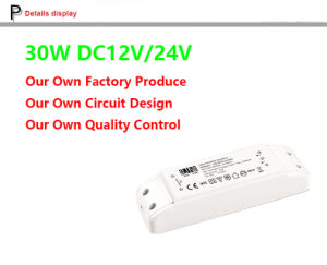 30W 12V, 24V High Power Factor, PF>0.95, Plastic 30W DC Adapter, 24V LED Driver, LED Transformer Professional Factory Made EMC 18W 300mA LED Panel Light Driver pictures & photos