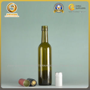 375ml Screw Top Green Glass Wine Bottle (510) pictures & photos