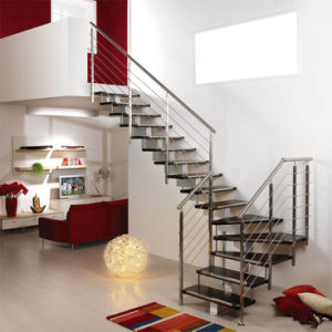 Stainless Steel Straight Staircase (PR-L11) pictures & photos