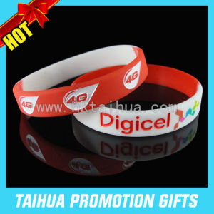 Promotion Silicone Bracelet Debossed Ink Filled Wristband (TH-08873) pictures & photos