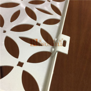 White Color Flower Pattern Perforated Aluminum Veneer pictures & photos