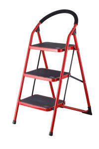3-Step Houshold Folding Steel Ladder (B103) pictures & photos