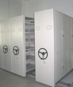 Metal High Density Mobile Shelving Cabinet (T4B-2B) pictures & photos
