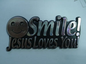 Customized 3D Emblem, Jesus Love You pictures & photos