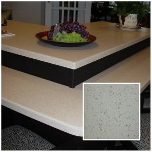 Polished Stone Material White/Beige/Cream Artificial Quartz Stone for Bar/Table Tops pictures & photos