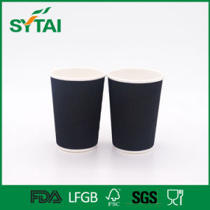 Custom Printed Disposable Corrugated Ripple Coffee Paper Cup pictures & photos