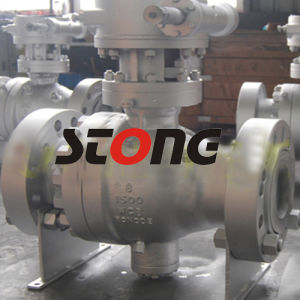 2PCS Wcb Trunnion Mounted Ball Valve of 300lb Reduce Bore pictures & photos