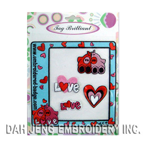 Lovely Pig Embroidered Sticker Package pictures & photos