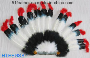 Handmade Indian Orstrich/Turkey Feather Headdress pictures & photos