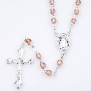 Light Rose Rosary (SGR1-008)