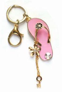 Bling Diamante Slipper Keychain