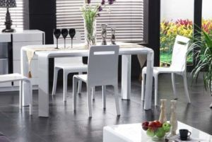 High Gloss White Dining Table (120#)