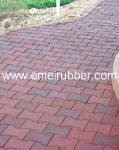 China Rubber Paver For Garden Walkway And Driveway China