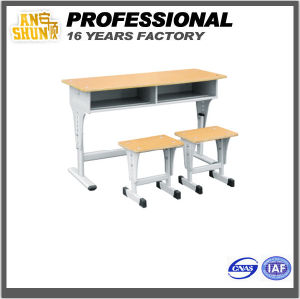 Metal Adjustable Study Table and Chair Set (AS-045) pictures & photos